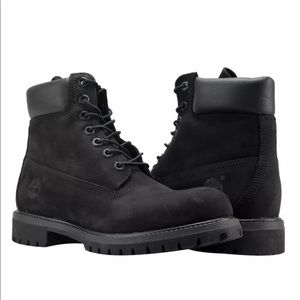 """Mens Timberland Boots 6"""" Waterproof Black Leather"""